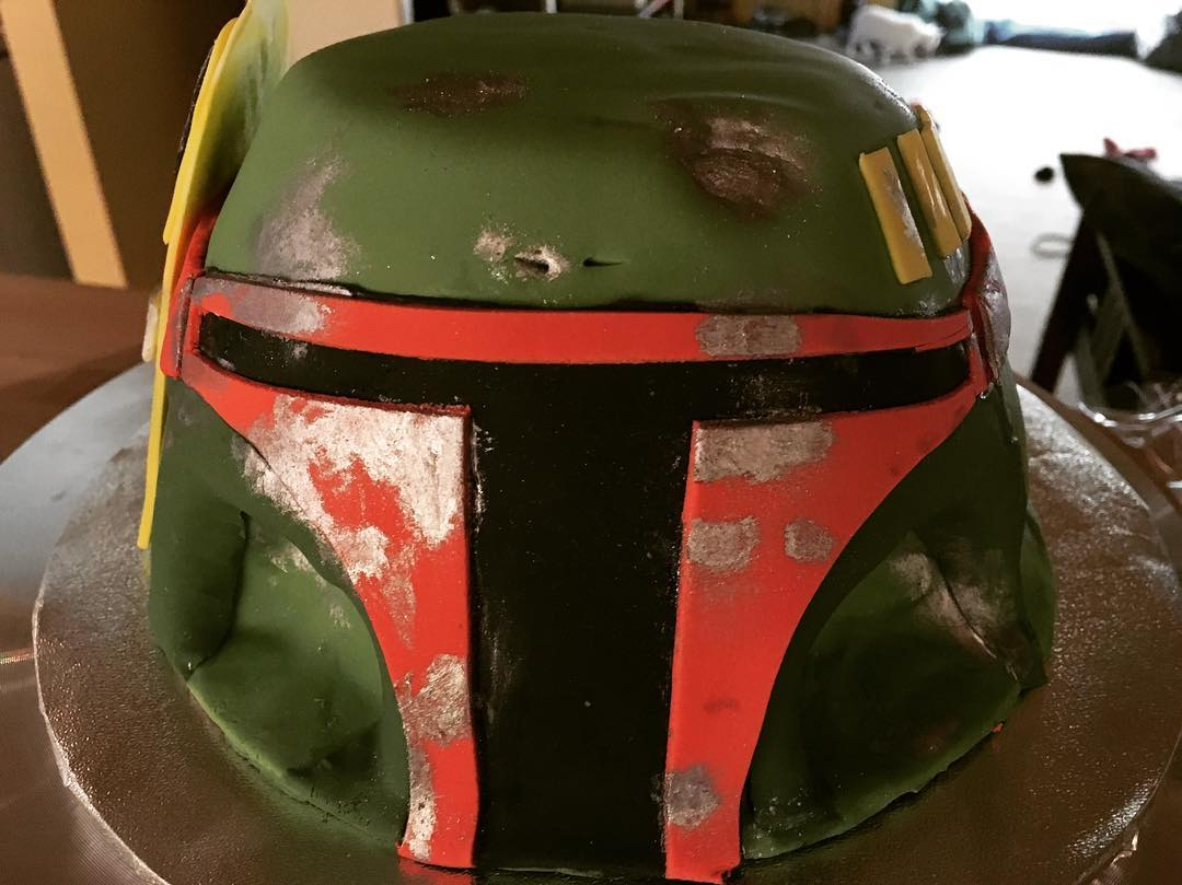 Boba Fett Birthday Cake by Angela Welch