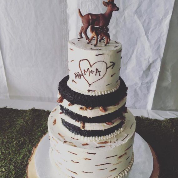 Deer Cake - Salted Caramel Chocolate Wedding Cake by Angela Welch