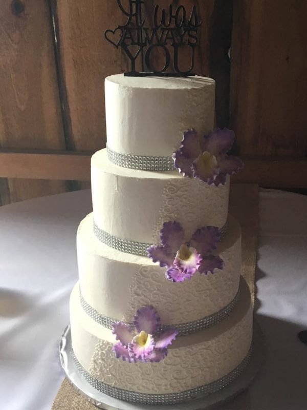 Marble Cake with Vanilla Frosting - Wedding Cake