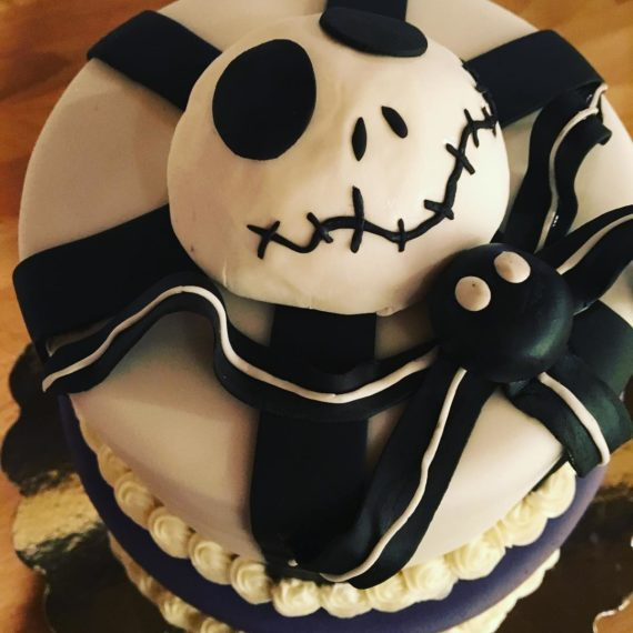 Nightmare Before Christmas Birthday Cake by Angela Welch