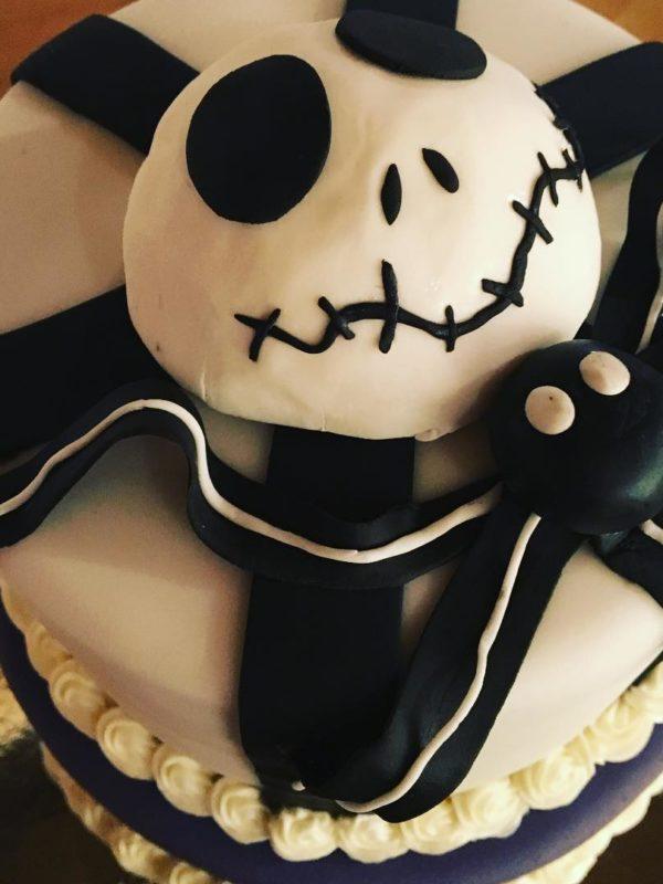 Nightmare Before Christmas Birthday Cake by Angela Welch