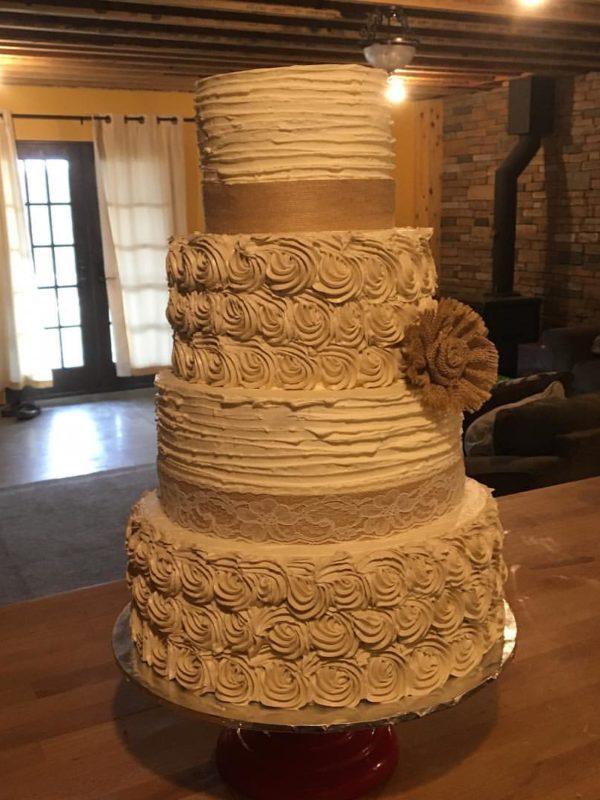 Rustic Vanilla Cake - Vermont Wedding Cake