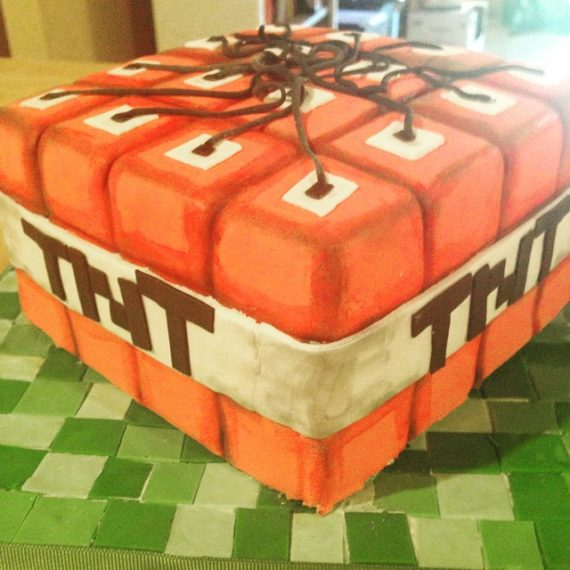 Mincraft Birthday Cake by Angela Welch