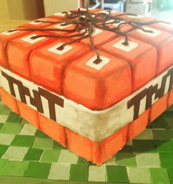 Mincraft Birthday Cake by Angela Welch