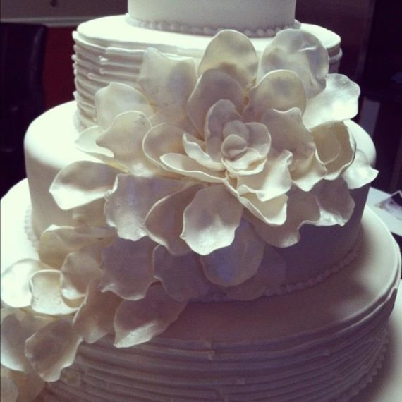 Fondant Flower Wedding Cake - Angela Welch in Vermont