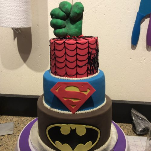 Super Hero Birthday Cake by Angela Welch