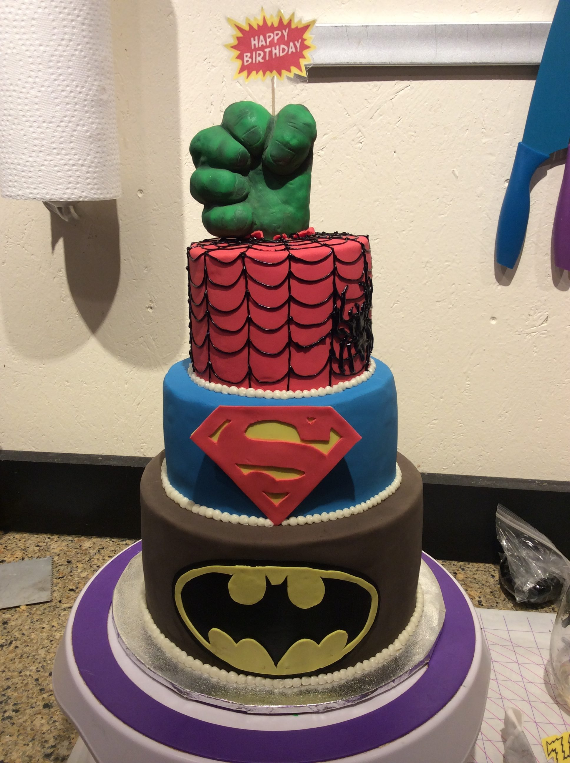 Super Hero Birthday Cake Angela Welch