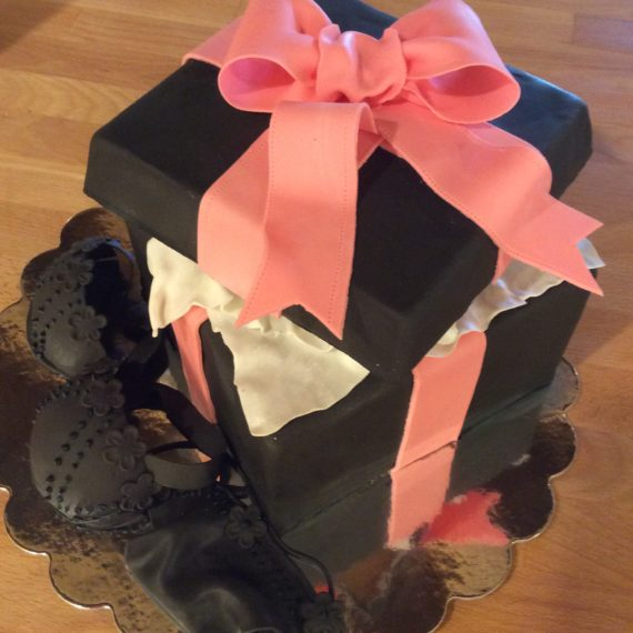 Black Bachelorette Cake by Angela Welch