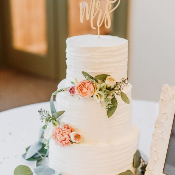 Anthony and Kate's Wedding Cake at Sugarbush VT by Angela Welch