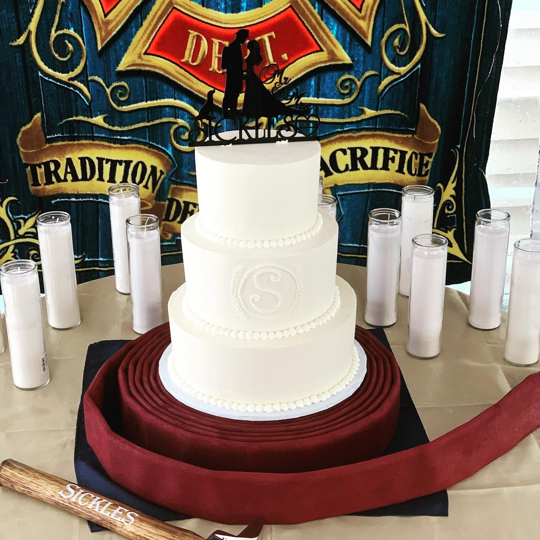 Fire Fighter Wedding Cake by Angela Welch